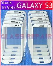 STOCK 10 Vetri Vetro BIANCO GLASS LENS WHITE SAMSUNG GALAXY S3 I9300 I9301I Neo