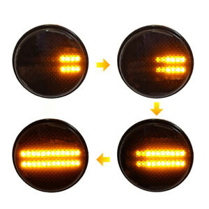 Sequential LED Side Marker Lights Signal Lamps For 03-12 Range Rover L322 HSE SC