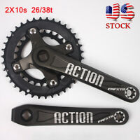 FMFXTR 26/38t 2X10s Double Speed 104/64bcd MTB Bike Crankset Crank Chainring