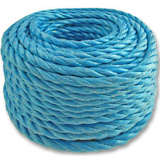 30m - 6mm Blue Poly Rope -Winch Pulley Lash- Water Boat Camping Marine Tarpaulin