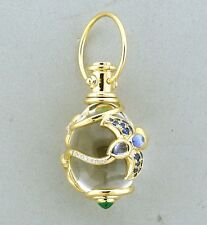 Temple St. Clair 18k Gold Diamond Gemstone Volo Amulet Pendant $6750