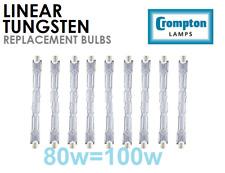 Crompton ECO Linear Halogen Bulb - R7 - 78mm - 80w (100w) - Pack of 5 (ETH80R7)