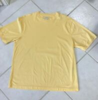 Men's 100% cotton crew neck t-shirt Size XL yellow John W Nordstrom NWOT