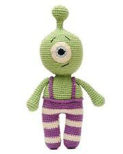 Green Cyclopses Handmade Amigurumi Stuffed Toy Knit Crochet Doll VAC