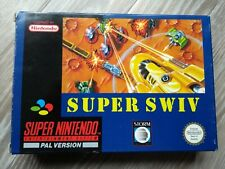Super Nintendo SNES Super Swiv, Boxed, Tested, PAL