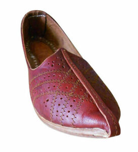 Indian Mojaries Ethnic Men Shoes Handmade Genuine Leather Jutties UK 11.5 EU 45
