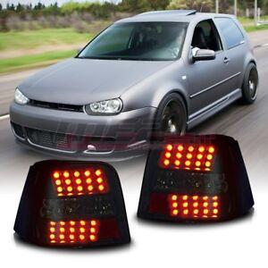 Fit For 1999-2006 VW Volkswagen Golf GTI MK4 LED Brake Tail Lights Smoke