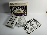 New Vintage Bicyle Pinochle Two Decks with Instructions (1990)