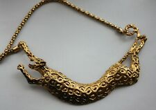 Large Leopard Pendant and Necklace.(A)