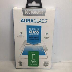 BODYGUARDZ AuraGlass Tempered Glass Screen Protector for iPhone SE/5s/5