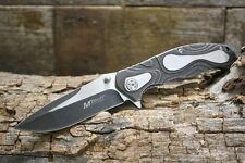 MTech Plain Edge Folding Pocket Knife Black New Pocket Clip MT-986P