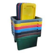 Stapelbox 43x35x23 cm 20 L Vorratskiste Aufbewahrung Behälter mit Deckel