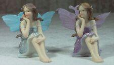 2 x Fairy w Silk Wings & Glitter 9cm FAIGLIS1 x Aqua + 1 x Lilac ***LAST PAIR***