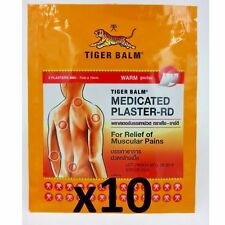 Lot of 10 (20pcs) TIGER balm warm medicated plaster-RD relief of muscular pain