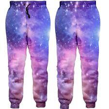 3D Nebula Print Men Women Sport Pants Jogger Running Jogging Sweatpants Trousers