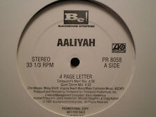 "AALIYAH + TIMBALAND - 4 PAGE LETTER (+REMIXES) (12"")  1997!!!  RARE!!!"