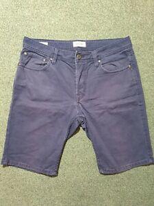 Jack and Jones Mens Shorts - Navy Blue Regular Fit - Size M