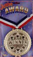 Winner Medal Champ Sports Banquet Party Favor Toy Gift Gold Jumbo Award Ribbon