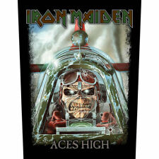 IRON MAIDEN ACES HIGH OFFICIAL LICENSED LARGE BACK PATCH METAL BAND BADGE NEW