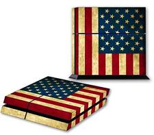 USA FLAG PS4 Skin Vinyl Decal PlayStation 4 Console Sticker United States 166