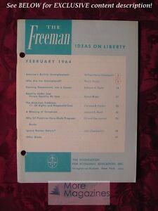 The FREEMAN February 1964 Robert Blake Edmund A. Opitz William Henry Chamberlin