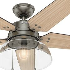 Hunter Fan 52 inch Contemporary Brushed Slate Ceiling Fan with LED Light Kit