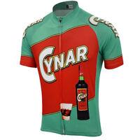 1965 Cynar Cycling Jersey Retro Road Pro Clothing MTB Short Sleeve Bike
