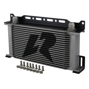 LR Mocal Type AN10 19 Row Engine Oil cooler W/ 248mm Mounting Bracket Kit Silver