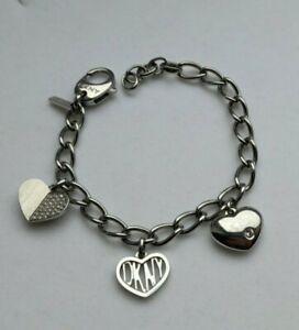 LADIES DKNY STAINLESS STEEL HEART BRACELET NJ1576040 RRP £42 GIFT UNWANTED