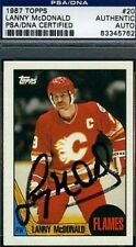 LANNY MCDONALD SIGNED PSA/DNA 1987 TOPPS CERTIFIED AUTOGRAPH AUTHENTIC
