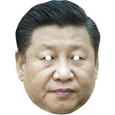 Xi Jinping Chinese Politician Celebrity Card Mask - All Our Masks Are Pre-Cut!