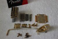 Fender USA Relic Gold Stratocaster 2 3/16 Tremolo Body Hardware Set Strat Guitar