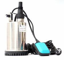 CSP400C INOX Flachsaugpumpe Tauchpumpe Kellerpumpe Schmutzwasserpumpe 400W (TÜV)