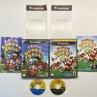 Nintendo Gamecube Super Monkey Ball 1 & 2 Game Lot COMPLETE!! (read description)