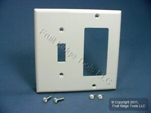 Leviton White UNBREAKABLE Toggle Switch Decora 2G Nylon Cover Wallplate 80707-W