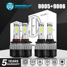 9005+9006 LED Headlight Bulb Hi-LO Beam for Chevy Silverado 1500 2500 HD 01-06