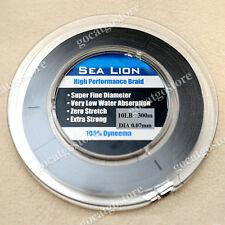 NEW Sea Lion 100% Dyneema  Spectra Braid Fishing Line 300M 10lb Black