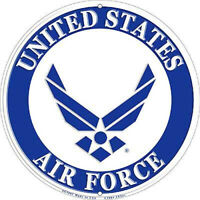 AIR FORCE USAF LOGO ROUND ALUMINUM SIGN 12 INCHES MADE IN THE USA