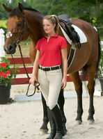 """Marcel Toulouse Ladies Womens Cotton Knee Patch Breeches Riding Pants 28"""" OR 30"""""""