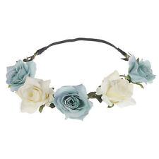 Women Rose Flower Crown Festival Headband Wedding Party Floral Garland Headband