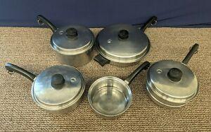 Saladmaster Stainless Steel Pot Sauce Fry Pan 18-8 Tri-Clad Lid Steamer Skillet