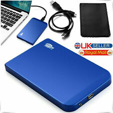 "3.5"" Aluminum Hard Drive Disk 2.0 HDD External Enclosure IDE to USB Caddy CaseUK"