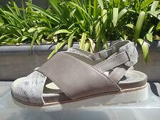 COMFY Earthies Earth SANTORINI, Grey Calf Leather, MSRP $129 Women's Sz US 7.5M