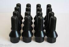 16 X M12 1.5 26mm Negro Llanta de Aleación Tornillos Ajuste Golf Mk1 Mk2 Mk3 4