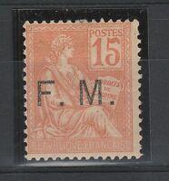 FRANCOBOLLI 1901 FRANCIA C. 15 FRANCOBOLLO DI FRANCHIGIA MLH Z/4376