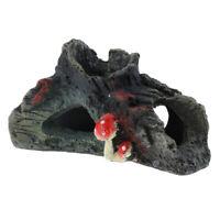 Vivarium Reptile Decoration Aquarium Fish Tank Ornament Lizard Hide Cave