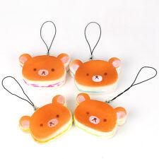 Hamburger Bear Phone Straps Squishy Bear Bread Scented Bag Kawaii Charms
