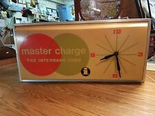 Vtg Master Card Credit Card AD Advertising Department Store Light/Clock Dualite