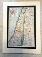 Antique Map Print Palestine Israel 1920s Middle East Vintage Art