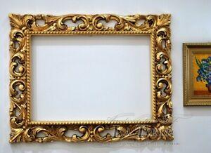 Cornice traforata stile barocco Classica antica foglia oro  50x70 art.620 CQ31
